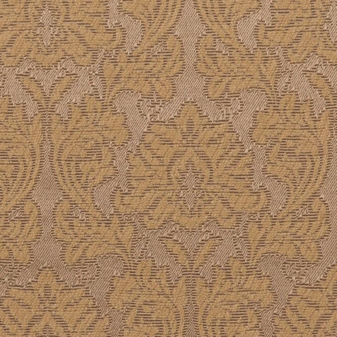 コットン&ポリエステル×幾何学模様(キャラメル)×サテンジャガード_全4色 イメージ1