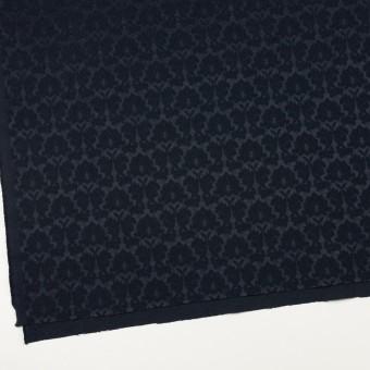 コットン&ポリエステル×幾何学模様(ダークネイビー)×サテンジャガード_全4色 サムネイル2