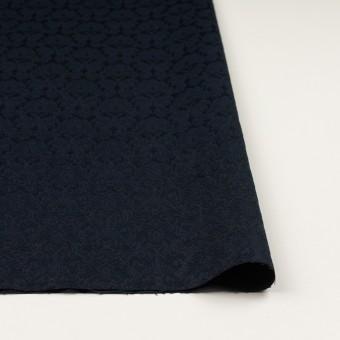 コットン&ポリエステル×幾何学模様(ダークネイビー)×サテンジャガード_全4色 サムネイル3