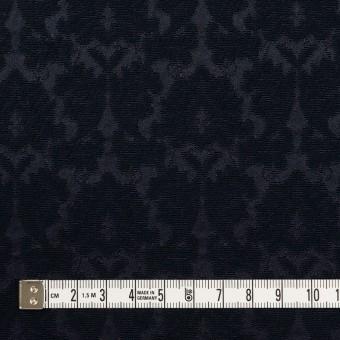 コットン&ポリエステル×幾何学模様(ダークネイビー)×サテンジャガード_全4色 サムネイル4