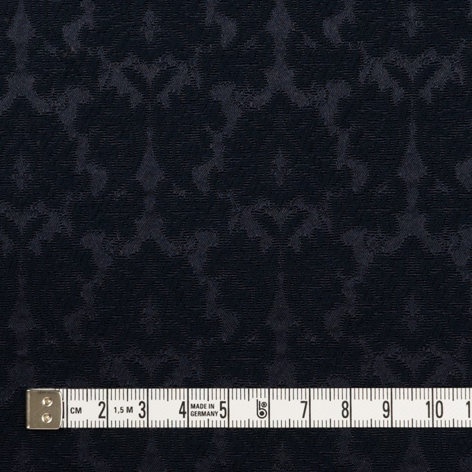 コットン&ポリエステル×幾何学模様(ダークネイビー)×サテンジャガード_全4色 イメージ4