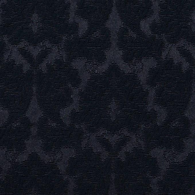 コットン&ポリエステル×幾何学模様(ダークネイビー)×サテンジャガード_全4色 イメージ1