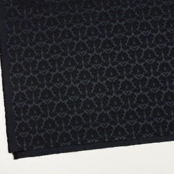 コットン&ポリエステル×幾何学模様(ブラック)×サテンジャガード_全4色 サムネイル2