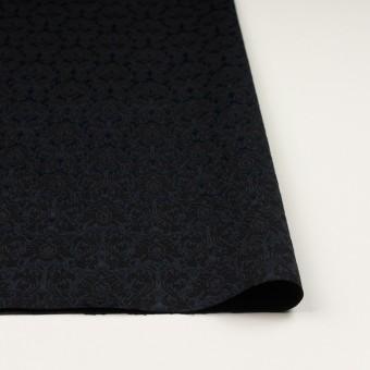 コットン&ポリエステル×幾何学模様(ブラック)×サテンジャガード_全4色 サムネイル3