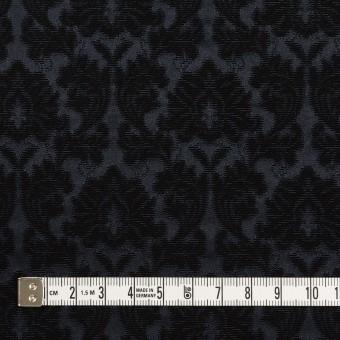 コットン&ポリエステル×幾何学模様(ブラック)×サテンジャガード_全4色 サムネイル4