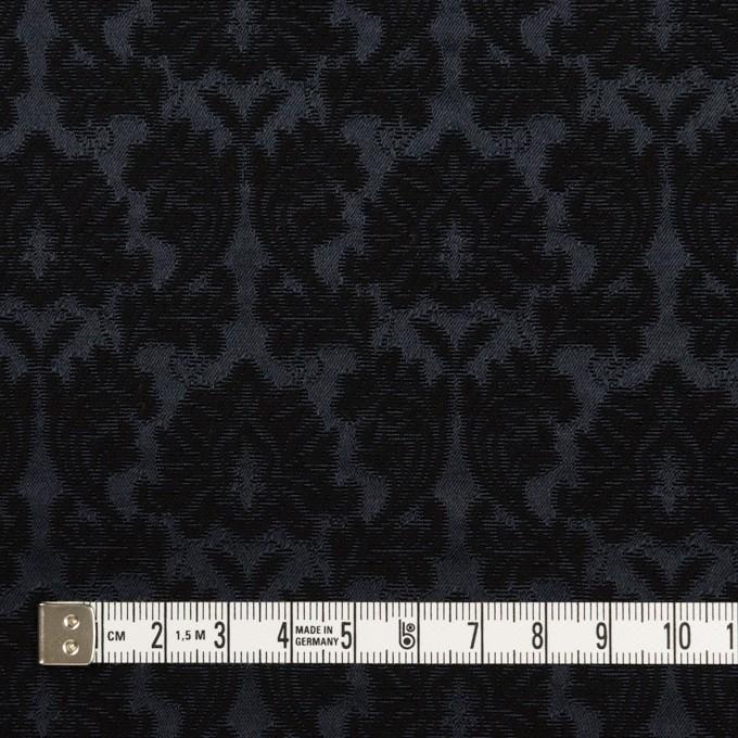 コットン&ポリエステル×幾何学模様(ブラック)×サテンジャガード_全4色 イメージ4