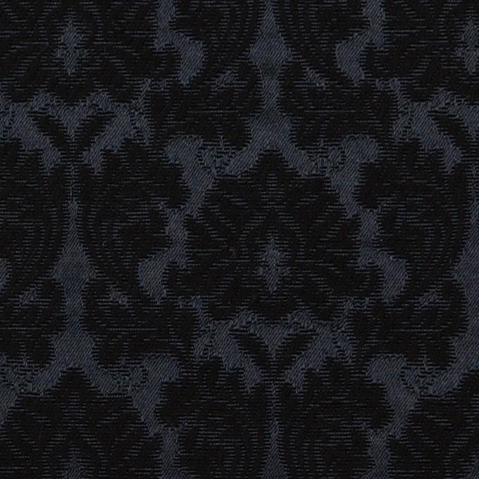 コットン&ポリエステル×幾何学模様(ブラック)×サテンジャガード_全4色 イメージ1