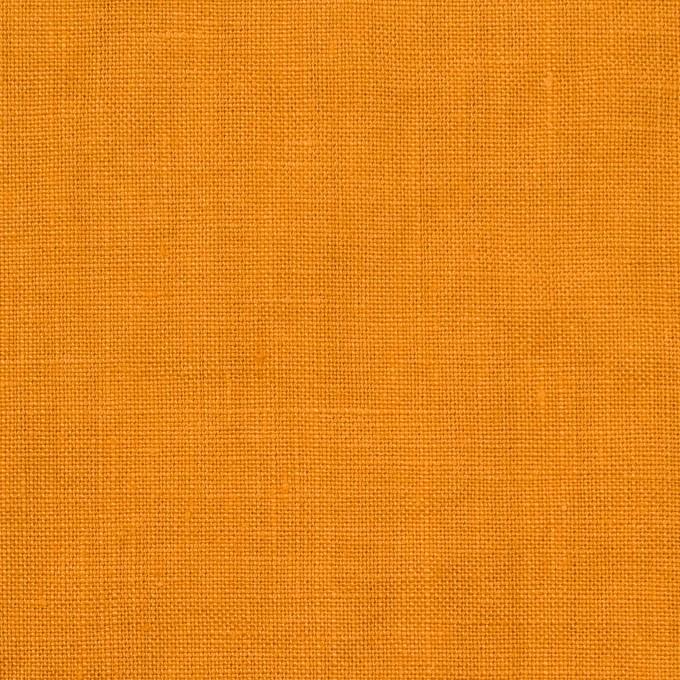リネン×無地(マンダリンオレンジ)×薄キャンバス_全25色 イメージ1