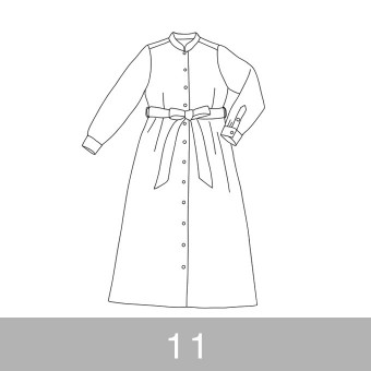 オリジナルパターン#015_ロングシャツワンピース_11号