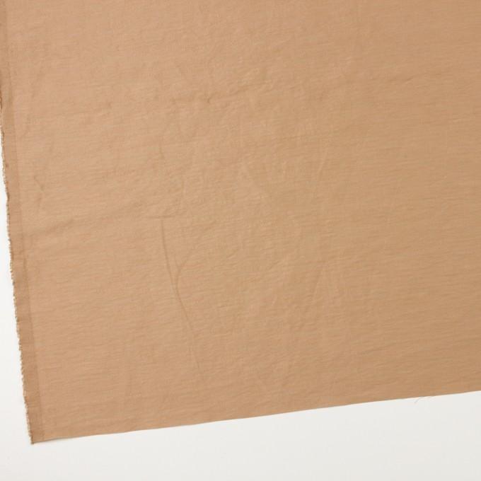 ナイロン&リネン混×無地(セピア)×オーガンジーワッシャー_全2色 イメージ2