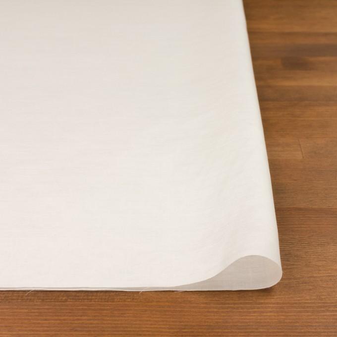 コットン&シルク×無地(ミルキーホワイト)×ボイル イメージ3