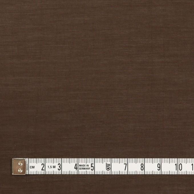 コットン&シルク×無地(ダークブラウン)×ボイル イメージ4