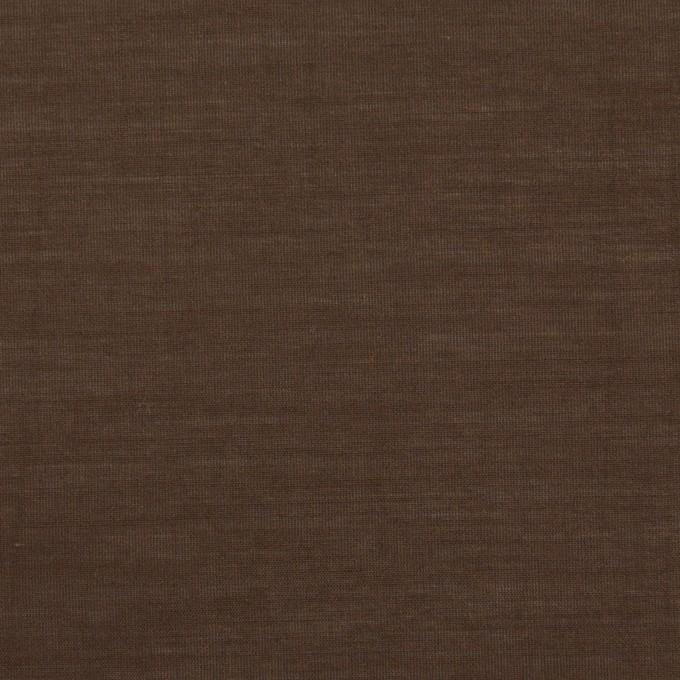 コットン&シルク×無地(ダークブラウン)×ボイル イメージ1