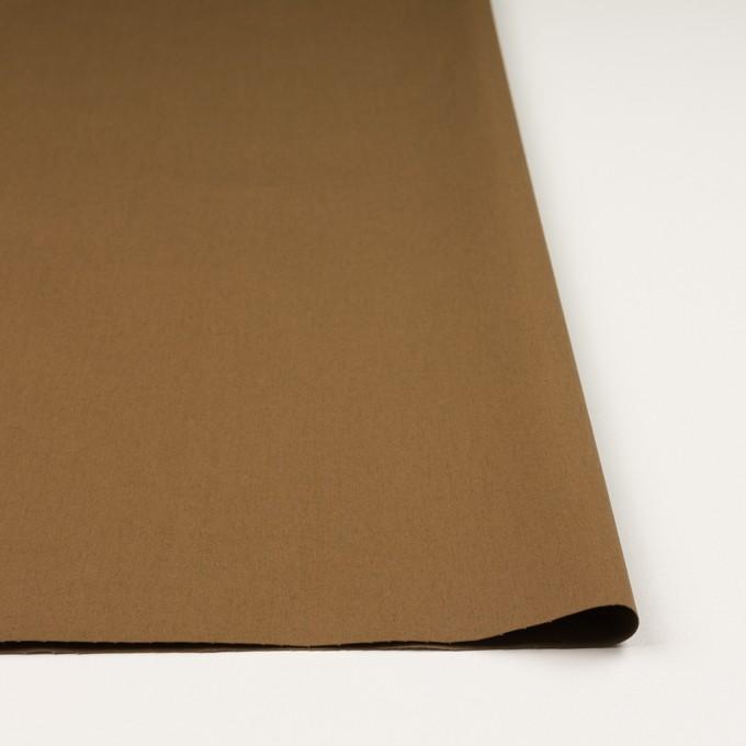 コットン&ポリウレタン×無地(ブラウン)×ギャバジン・ストレッチ_全2色_イタリア製 イメージ3