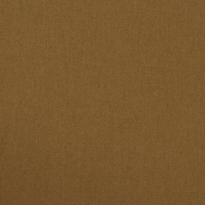 コットン&ポリウレタン×無地(ブラウン)×ギャバジン・ストレッチ_全2色_イタリア製 イメージ1