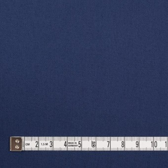 コットン&ポリウレタン×無地(マリンブルー)×ギャバジン・ストレッチ_全2色_イタリア製 サムネイル4