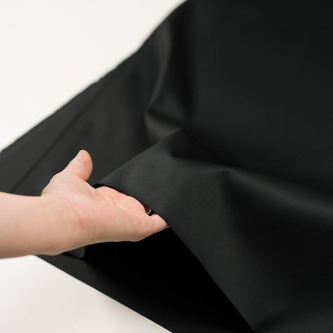 コットン&ポリウレタン×無地(ブラック)×チノクロス・ストレッチ_全3色 イメージ5