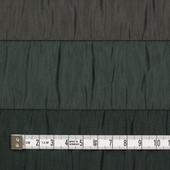 ポリエステル×ボーダー(グリーン、ブラウン&ブラック)×タフタシャーリング サムネイル4
