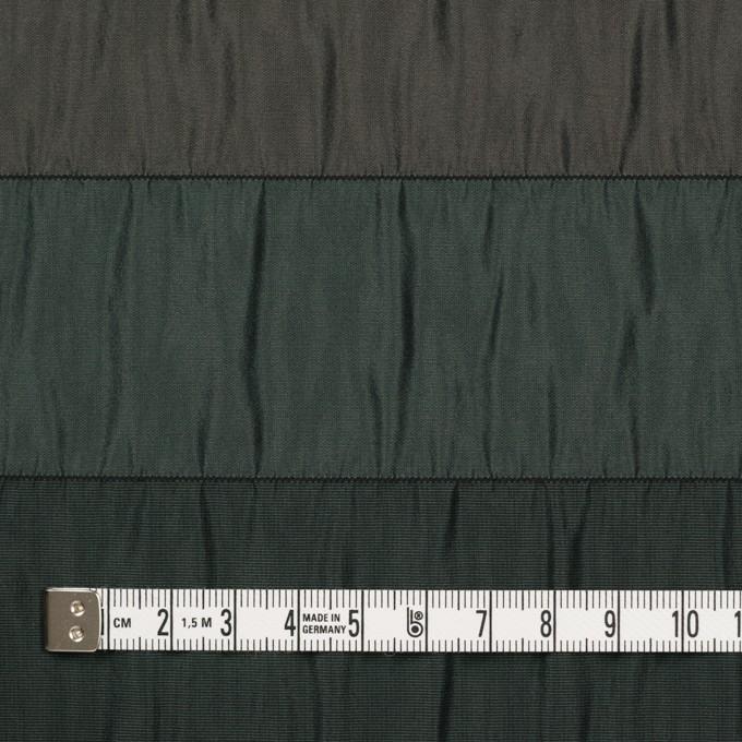 ポリエステル×ボーダー(グリーン、ブラウン&ブラック)×タフタシャーリング イメージ4