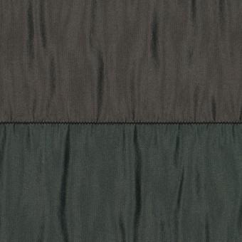 ポリエステル×ボーダー(グリーン、ブラウン&ブラック)×タフタシャーリング サムネイル1