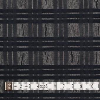 ポリエステル&ナイロン×ボーダー(メタル&ブラック)×タフタジャガード サムネイル4