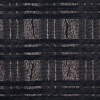 ポリエステル&ナイロン×ボーダー(メタル&ブラック)×タフタジャガード サムネイル1