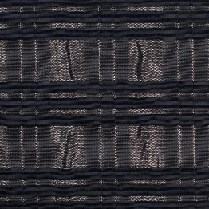 ポリエステル&ナイロン×ボーダー(メタル&ブラック)×タフタジャガード イメージ1