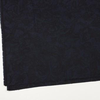 コットン&ポリウレタン×幾何学模様(ネイビー&ブラック)×ジャガード・ストレッチ サムネイル2