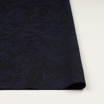 コットン&ポリウレタン×幾何学模様(ネイビー&ブラック)×ジャガード・ストレッチ サムネイル3