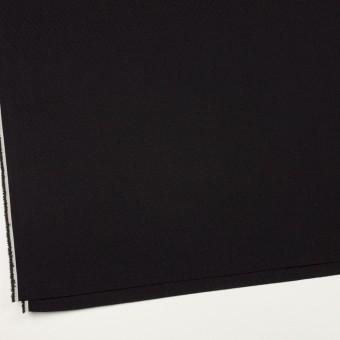コットン&ポリエステル混×無地(ブラック)×ジャガード・ストレッチ サムネイル2