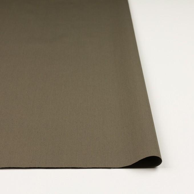 コットン&ナイロン混×無地(ダークカーキ)×ギャバジン_全4色 イメージ3
