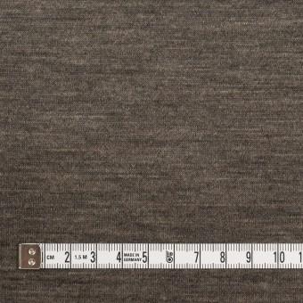 ウール&モダール×無地(モカブラウン&チャコールグレー)×W天竺ニット サムネイル4