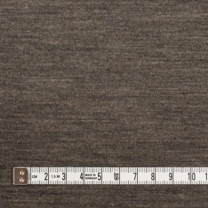 ウール&モダール×無地(モカブラウン&チャコールグレー)×W天竺ニット イメージ4