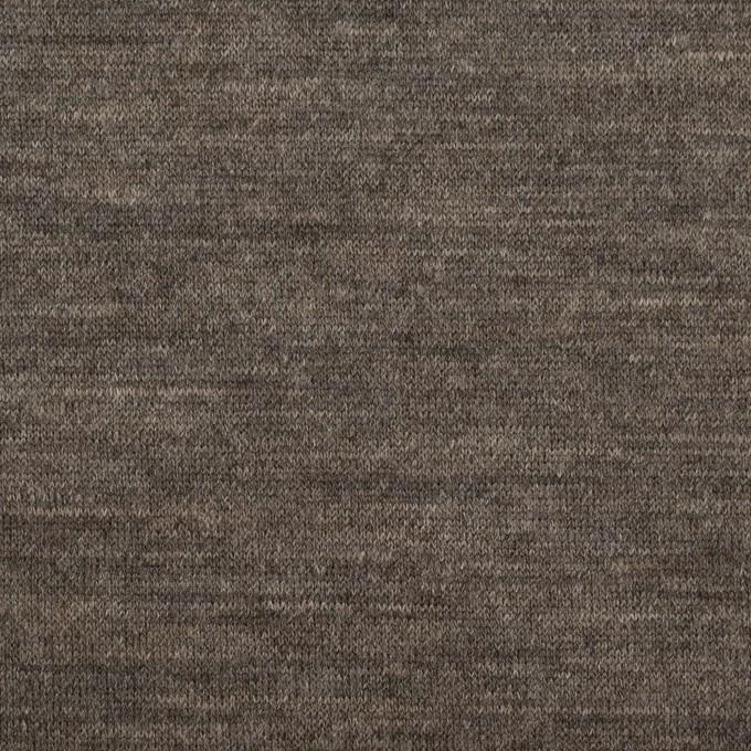 ウール&モダール×無地(モカブラウン&チャコールグレー)×W天竺ニット イメージ1
