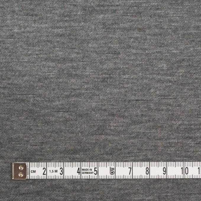 ウール&モダール×無地(モカブラウン&チャコールグレー)×W天竺ニット イメージ6