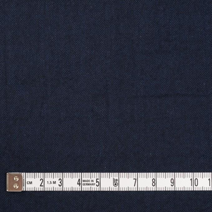 コットン&ポリウレタン×無地(ダークネイビー)×ヘリンボーン・シャーリング_全2色 イメージ4