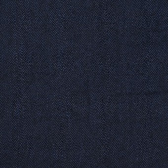 コットン&ポリウレタン×無地(ダークネイビー)×ヘリンボーン・シャーリング_全2色 サムネイル1