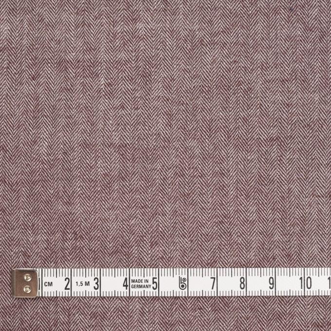 コットン&ポリウレタン×ミックス(エンジ)×ヘリンボーン・シャーリング_全3色 イメージ4
