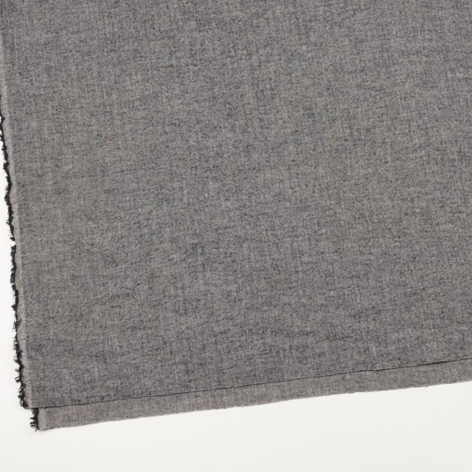 コットン&ポリウレタン×ミックス(ブラック)×ヘリンボーン・シャーリング_全3色 イメージ2