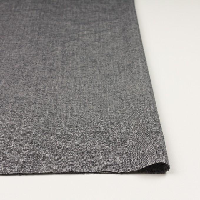 コットン&ポリウレタン×ミックス(ブラック)×ヘリンボーン・シャーリング_全3色 イメージ3