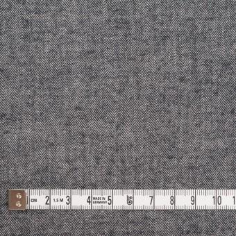コットン&ポリウレタン×ミックス(ブラック)×ヘリンボーン・シャーリング_全3色 サムネイル4