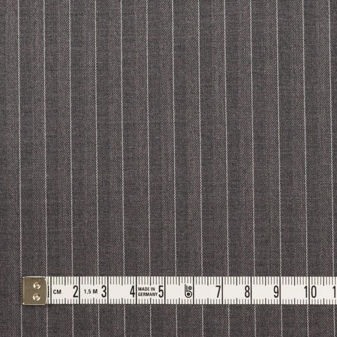 ポリエステル&レーヨン×ストライプ(チャコールグレー)×サージ&ポプリン_全2色 イメージ4
