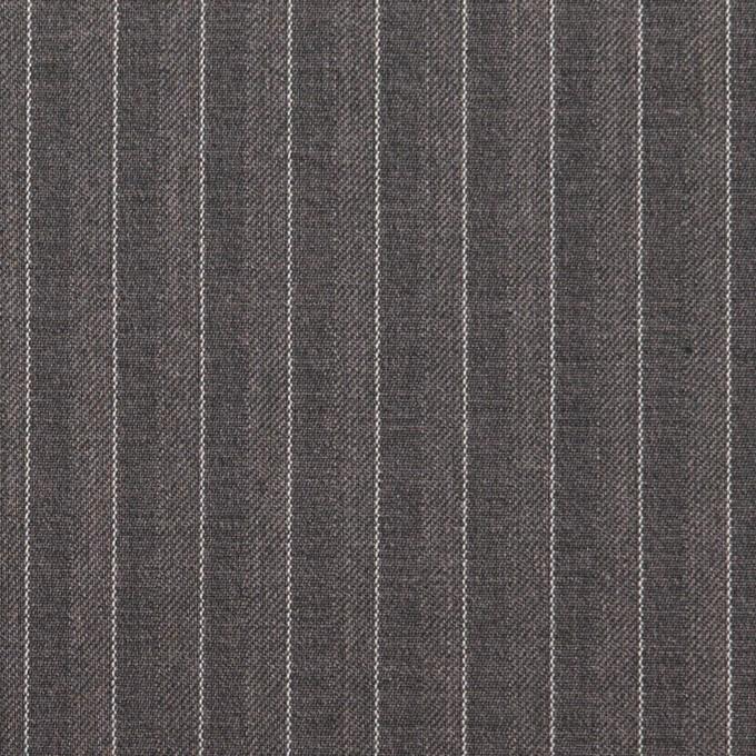 ポリエステル&レーヨン×ストライプ(チャコールグレー)×サージ&ポプリン_全2色 イメージ1