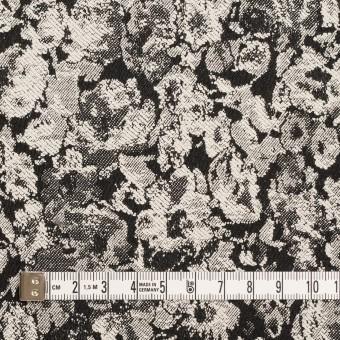 コットン&ポリウレタン×フラワー(ブラック)×ジャガード・ストレッチ サムネイル4