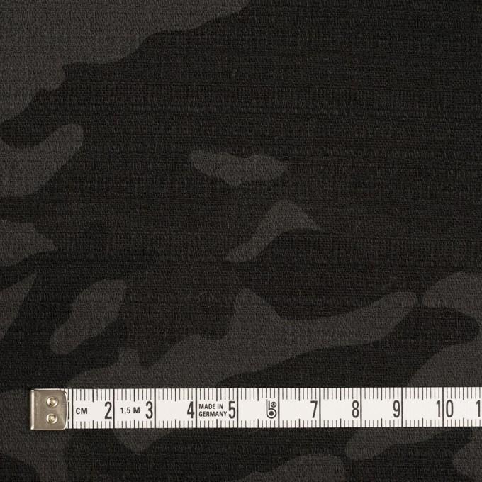コットン&ポリウレタン×迷彩(チャコール)×ブッチャー・ストレッチ イメージ4