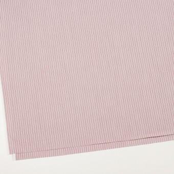 コットン×ストライプ(ローズ)×かわり織 サムネイル2