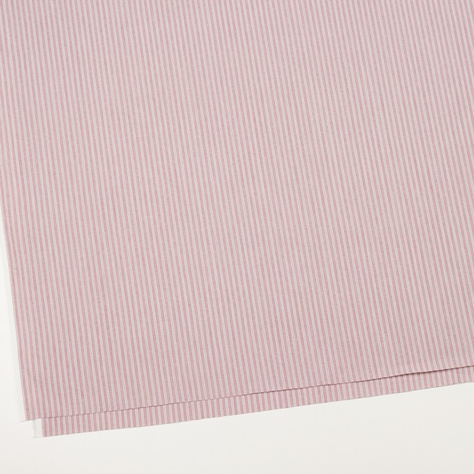 コットン×ストライプ(ローズ)×かわり織 イメージ2