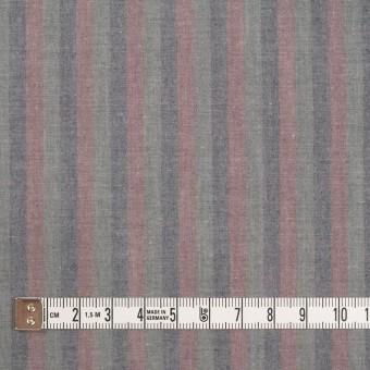 コットン×ストライプ(グレイッシュピンク、アッシュネイビー&モスグレー)×ローン サムネイル4