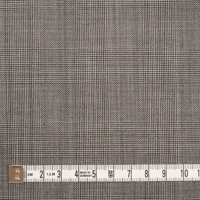 コットン×チェック(チャコールグレー)×ポプリン(パラフィン加工)_イタリア製 イメージ4