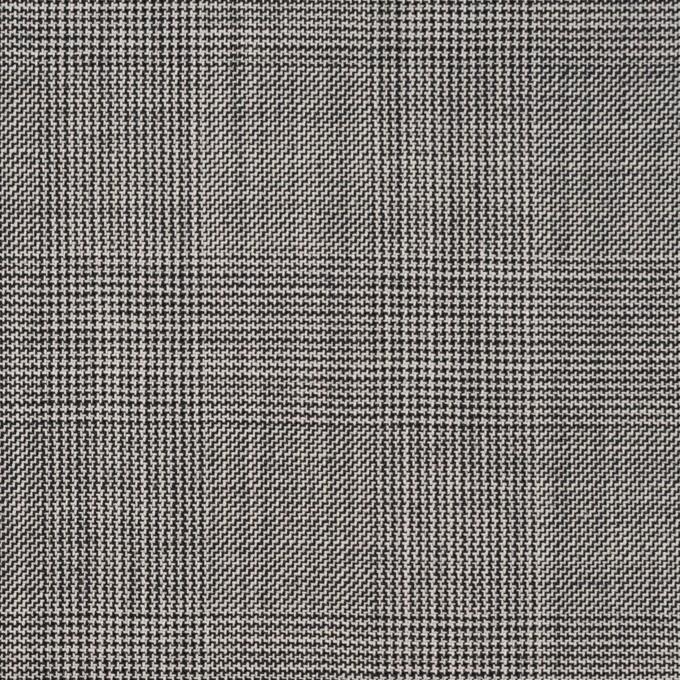 コットン×チェック(チャコールグレー)×ポプリン(パラフィン加工)_イタリア製 イメージ1